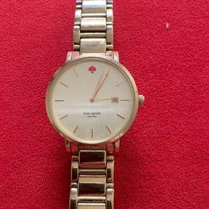 Kate Spade Gramercy Grand Watch - Gold - EUC